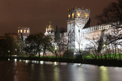 Novodevichy女修道院修道院,莫斯科,俄罗斯 图库摄影