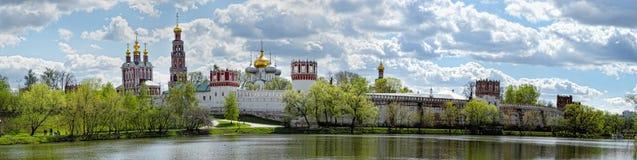 Novodevichy女修道院在莫斯科 库存照片