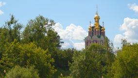 Novodevichy女修道院的塔 库存照片