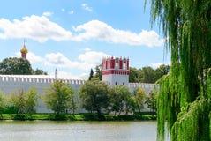 Novodevichy女修道院,在西南莫斯科, 库存照片
