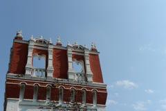 Novodevichy Bogoroditse-Smolensky修道院-正统女修道院在Devichie领域的莫斯科在Moskva河的弯, Th的 图库摄影