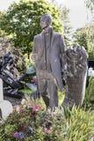 Novodevichy Cemetery. Grave actor Michael Zhzhenov Stock Photo