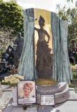 Novodevichy Cemetery. Grave the singer Tatiana Shmyga Stock Photo