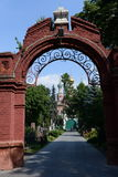 Novodevichy cemetery is one of the most famous burial sites in Moscow. Stock Photos