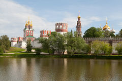 Novodevichy convent. In the evening (view from the lake). Moscow Stock Photography