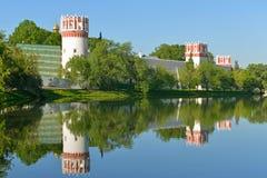 Novodevichy Convent, also known as Bogoroditse-Smolensky Monastery 1524. Moscow Royalty Free Stock Photo