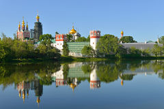 Novodevichy Convent, also known as Bogoroditse-Smolensky Monastery 1524. Moscow Royalty Free Stock Images