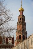 Novodevichy convent bell tower in the early morning Stock Images