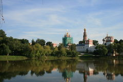 Novodevichy Convent and Cemetery. Sunny day Royalty Free Stock Photography