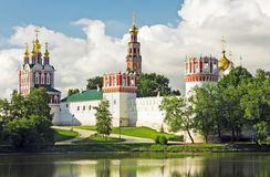 Novodevichy convent in the early morning Stock Photos