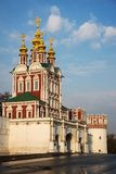 Novodevichy convent in the early morning Royalty Free Stock Images