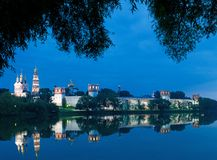 Novodevichy convent in the evening Stock Photography