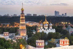 Novodevichy Convent (at evening), also known as Bogoroditse-Smolensky Monastery Royalty Free Stock Photo
