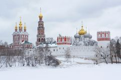 Novodevichy Convent. Historic Complex Novodevichy Convent in Moscow Royalty Free Stock Photography