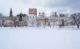 Novodevichy Convent. Historic Complex Novodevichy Convent in Moscow Royalty Free Stock Images