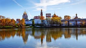 Novodevichy Convent and its mirror image on the water surface, M Stock Photos