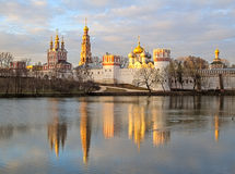 Novodevichy Convent monastery in early spring, Moscow Royalty Free Stock Image