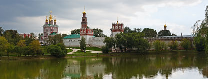 Novodevichy Convent and monastery pond Stock Photography