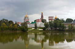 Novodevichy Convent and monastery pond, Moscow Stock Image