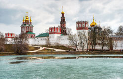 Novodevichy convent in Moscow. In the spring Stock Image