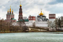 Novodevichy convent in Moscow. In the spring Stock Photography
