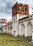 Novodevichy convent in Moscow. The wall of Novodevichy convent in Moscow Royalty Free Stock Images