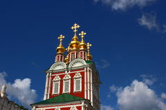 Novodevichy Convent in Moscow. At a sunny day Stock Photo