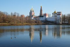 Novodevichy convent in Moscow Stock Photos