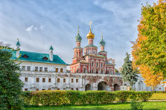 Novodevichy convent in Moscow. Mariinsky Chambers and Church of the intercession of the Novodevichy convent in Moscow Stock Photo