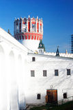 Novodevichy convent in Moscow. Old tower and entrance to the premises. Royalty Free Stock Photo