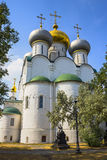 Novodevichy convent in Moscow. Popular touristic landmark. UNESCO World Heritage Site. Russia royalty free stock photo