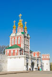 Novodevichy Convent in Moscow, Russia. Gate-Church of the Transf Royalty Free Stock Image