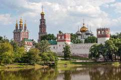 Novodevichy Convent in Moscow, Russian Orthodox Church. Royalty Free Stock Photo