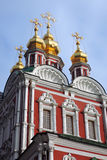 Novodevichy convent in Moscow. UNESCO world heritage site. Color photo. Old church Stock Photo