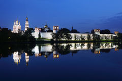 Novodevichy Convent at night Royalty Free Stock Photography