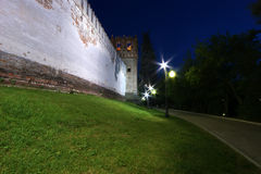 Novodevichy Convent (at night), Russia Stock Images