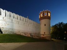 Novodevichy Convent (at night), Russia Royalty Free Stock Image