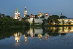 Novodevichy Convent (at night), Russia Royalty Free Stock Photo