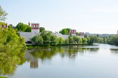 Novodevichy-Kloster, auch Bogoroditse-Smolenskykloster eins des schönen Anblicks in Moskau, Russland Stockfotografie