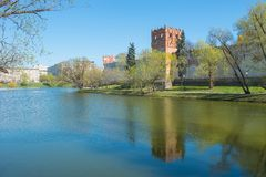 Novodevichy large pond Royalty Free Stock Images