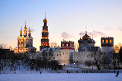 Novodevichy Monastery. In Southwest Moscow at dusk Stock Photos