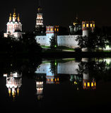 Novodevichy Monastery at night Stock Image