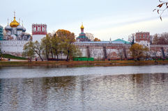 Novodevichy Monastery of the Virgin of Smolensk Moscow Autumn Evening Royalty Free Stock Image