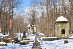 Novodevichye公墓在StPetersburg 免版税库存图片