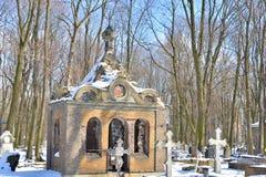 Novodevichye公墓在StPetersburg 图库摄影