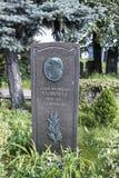 Novodevichye公墓 严重谢尔盖Alliluev-斯大林的父亲 免版税图库摄影