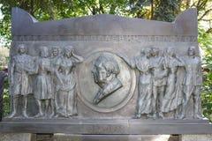 Novodevichye Cemetery. Grave writer Alexei Tolstoy Stock Photo