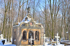Novodevichye Cemetery in St.Petersburg. Stock Photography