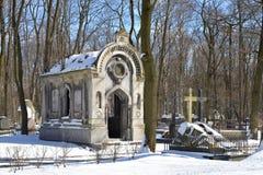 Novodevichye-Kirchhof in StPetersburg Stockbilder