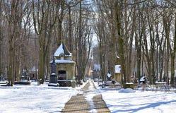 Novodevichyebegraafplaats in St. Petersburg royalty-vrije stock afbeelding
